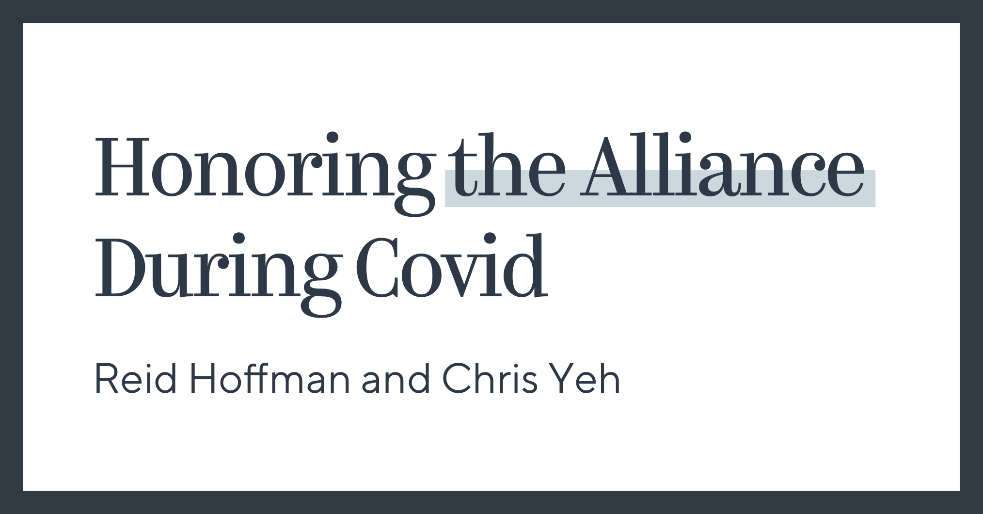 Honoring the Alliance During COVID
