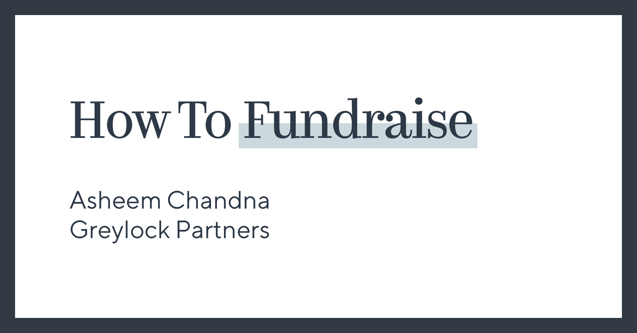 How To Fundraise