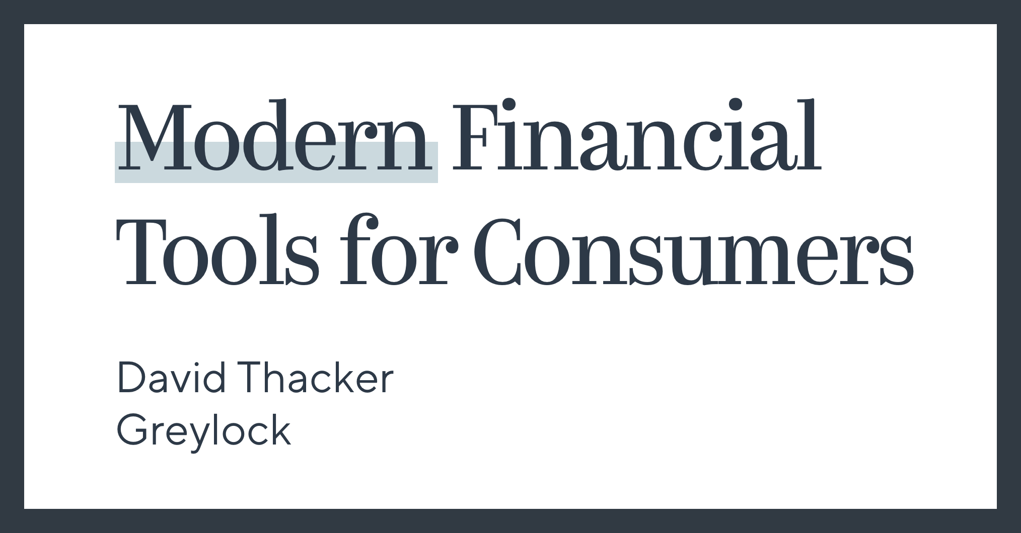 Modern Financial Tools for Consumers