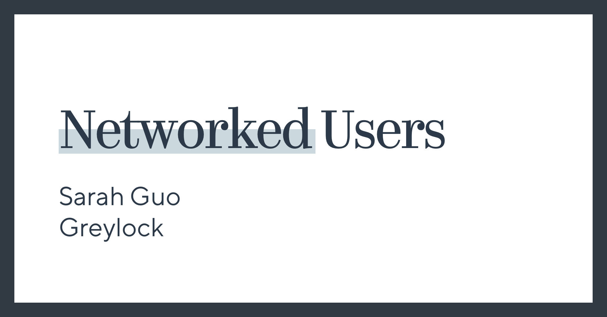 Networked Users