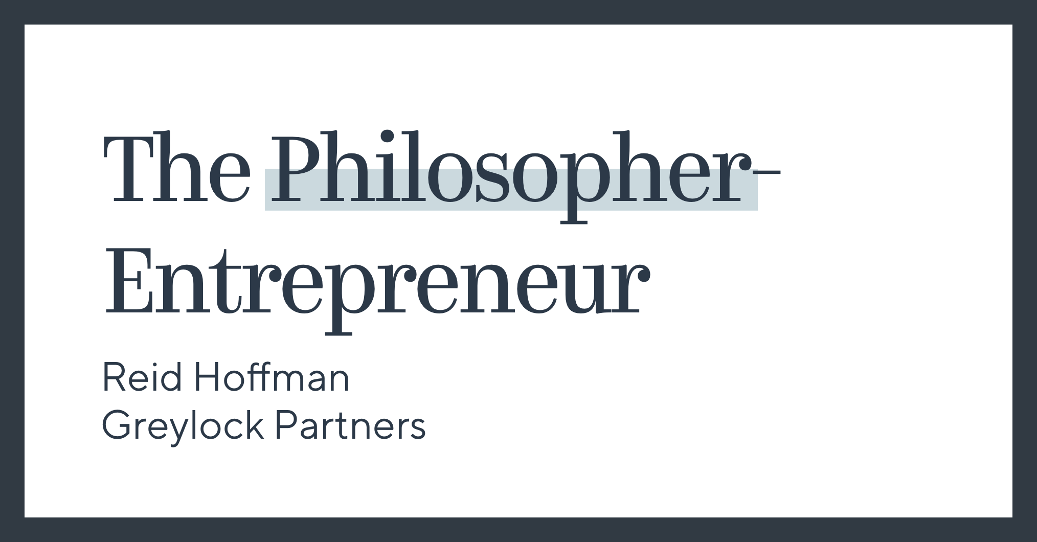 When people think about the backgrounds of successful entrepreneurs, philosophy rarely comes to mind. Computer science, biology, and design seem immed